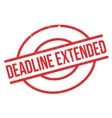 Deadline Extended rubber stamp vector image