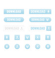 download buttons set vector image vector image