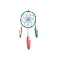dream catcher magic object witchcraft attribute vector image vector image