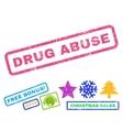 Drug Abuse Rubber Stamp vector image vector image