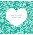 emerald green plants heart silhouette vector image vector image