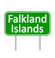 Falkland Islands road sign vector image vector image