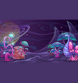 fantasy alien landscape another world concept vector image vector image