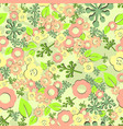 flower seamless pattern spring vector image vector image