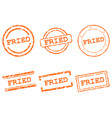 fried stamps vector image vector image
