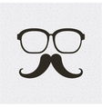glasses and mustache hipster style isolated icon vector image vector image