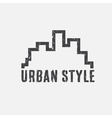 grunge urban style design template vector image