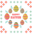 happy easter flat and cartoon style vector image