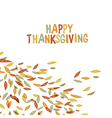 Happy Thanksgiving postcard design Autumn fall Fo vector image vector image