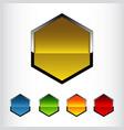 hexagon - logo concept vector image vector image