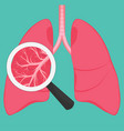 human lung anatomy diagram vector image vector image