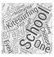 kitesurfing school brazil Word Cloud Concept vector image vector image