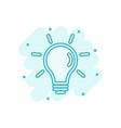 light bulb icon in comic style lightbulb cartoon vector image