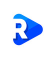 logo letter r triangle vector image vector image