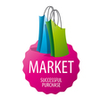 logo two packages for sale vector image vector image