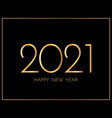 New year 2021 greeting card 2021 golden new year