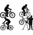 people on a ride silhouette vector image