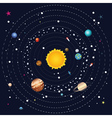 Planets of Solar System4 vector image vector image