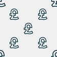 Pound Sterling icon sign Seamless pattern with vector image