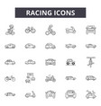 racing line icons signs set linear vector image vector image