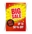sale flyer template vector image vector image