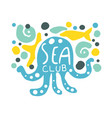 sea club logo summer travel and sport hand drawn vector image vector image