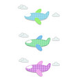 set of cute baby clip art airplanes for vector image vector image