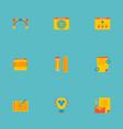 Set of icons flat style symbols with brillian