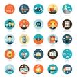 Set of modern flat design business infographics