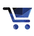shopping cart icon Abstract Triangle vector image vector image