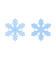 snowflake icons set blue silhouette snow flake vector image vector image
