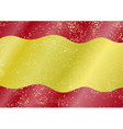 Spanish grunge flag vector image vector image