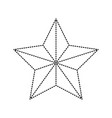 star award flat icon monochrome dotted silhouette vector image
