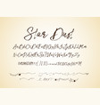 star dust handdrawn font vector image