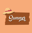 summer vacations design vector image vector image