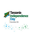 tanzania independence day template design vector image vector image