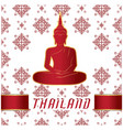 thailand buddha statue thai design white backgroun vector image