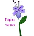 The of purple flower vector image vector image
