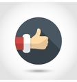 Thumb up hand icon vector image