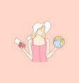 travelling tourism holiday choice concept vector image