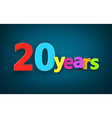 Twenty years paper sign vector image vector image