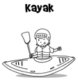 Vetcor art of kayak hand draw vector image vector image