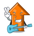 with guitar arrow mascot cartoon style vector image