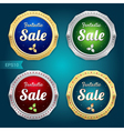 Set of sale tag label and badge vector image