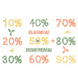 autumn sale by leaves pattern vector image