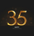 35 years happy anniversary card vector image