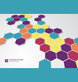 abstract colorful hexagons shape minimal pattern vector image vector image