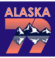 Alaska Landscape 1979 T-shirt Typography vector image vector image