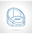 Armchair for rest blue flat line icon vector image