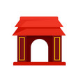 asian gate icon flat style vector image vector image